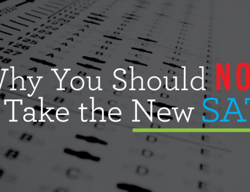 Why You Should NOT Take the New SAT